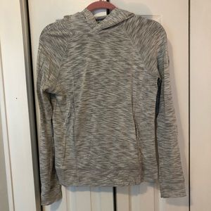 Lululemon Hooded Heathered Grey Pullover size 6